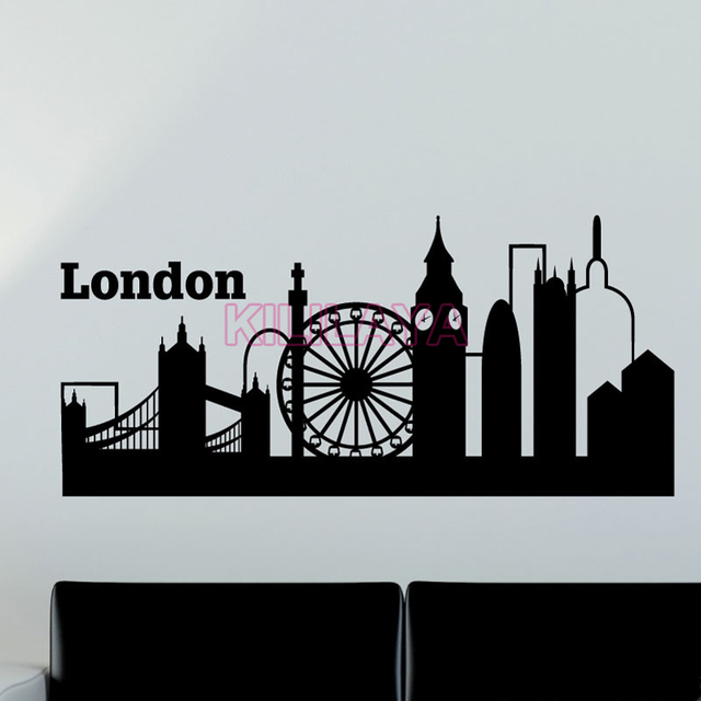 Sticker london eye big ben travel vinyl wall stickers home decor wall decals art wallpaper for