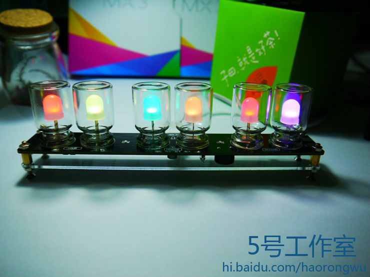 light clock diy Electronic diy kits soldering kits