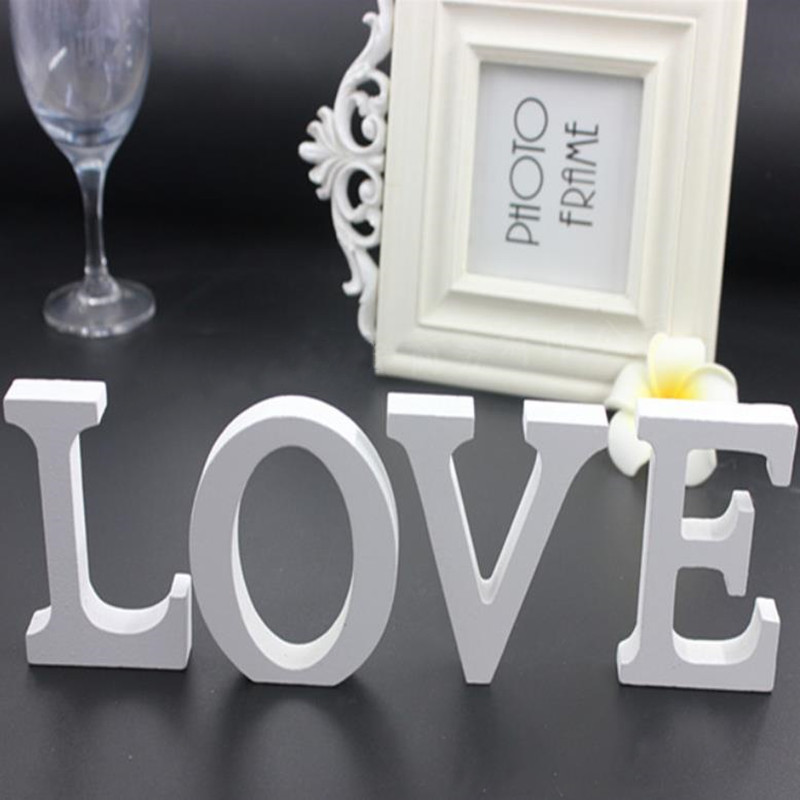 1pc 8CM White Wooden Letters English Alphabet DIY Personalised Name Design Art Craft Wedding Home Decor Letters Room Decoration