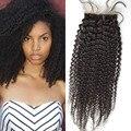 Seda Base de encerramento birmanês cabelo Afro kinky curly 100% cabelo humano perucas nenhum derramamento nenhum emaranhado com frete grátis