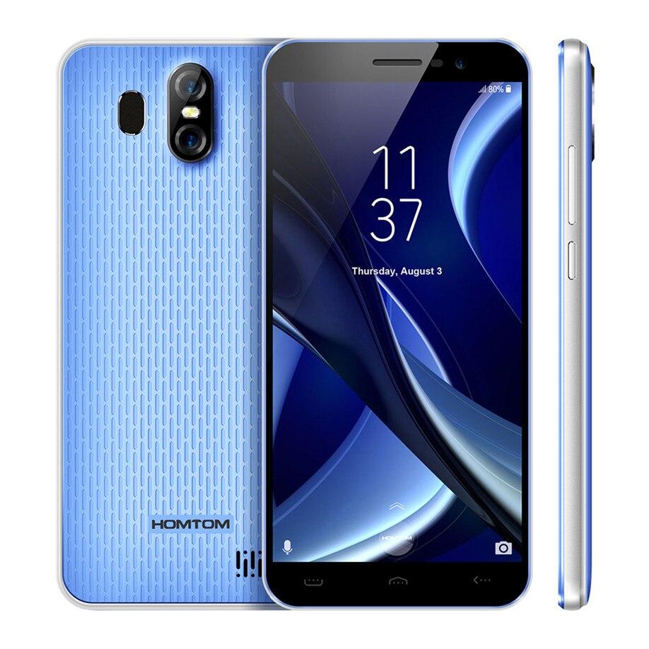 HOMTOM S16 Fingerprint Mobile Phone 5.5Inch 18:9 Screen 2GB RAM 16GB ROM 13MP+8MP Cams MTK6580 Quad-Core 3000mAh Smartphone