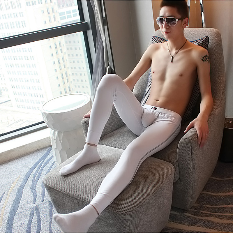 Men's long johns energy-saving cotton male single thin warm pants sanding Leggings 3012CKU
