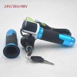 24 V 36 V 48 V e xe đạp ga chân ga màu xanh vàng với MÀN HÌNH LCD hiển thị Chỉ Số/ON-OFF key Lock cho điện xe đạp/xe đạp/xe tay ga