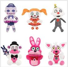 Wholesale Five Nights At Freddy's 4 FNAF Freddy Foxy Plush Toys Doll Kids Toys Birthday Gift 25cm недорого