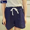 2016 Cotton Summer Models Theatrical Shorts Female Loose Big Yards Fashion Casual Culottes Wide Leg Elastic Shorts