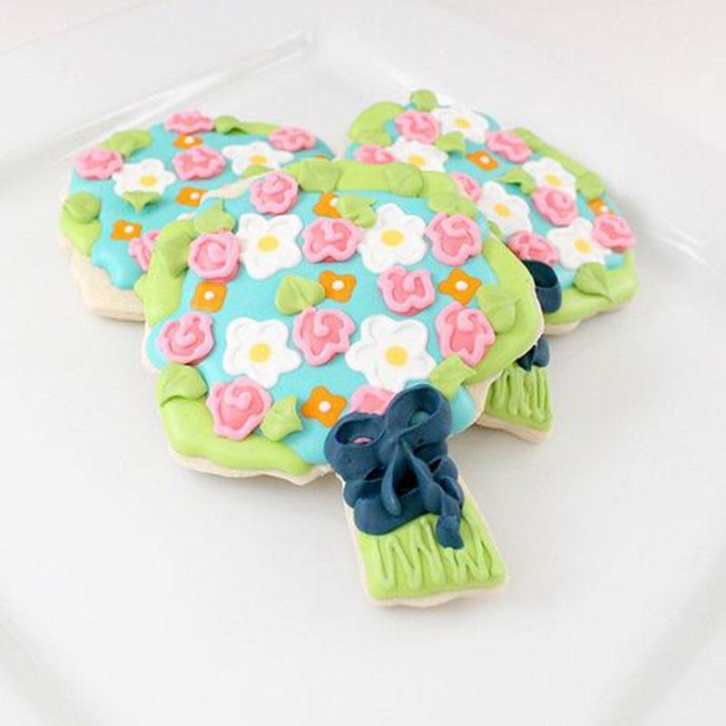 1pc Rose bouquet Cookie Cutter Mould Cake Fondant Cutter Sugarcraft ...