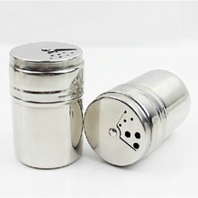 Simple Mini Bottle Stainless Steel Pepper Sugar Salt Pepper Shaker Toothpick Storage Bottle