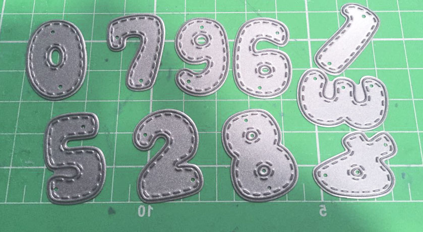 Craft Die Cutting-Dies Numbers-Set Scrapbooking Photo-Invitation Carbon-Sharp Metal Cards-Decoration