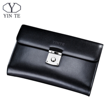 YINTE Luxury Male Leather Purse Men's Clutch Wallets Handy Bags Business Man High Quality Big Capacity Crad Holders Portfolio