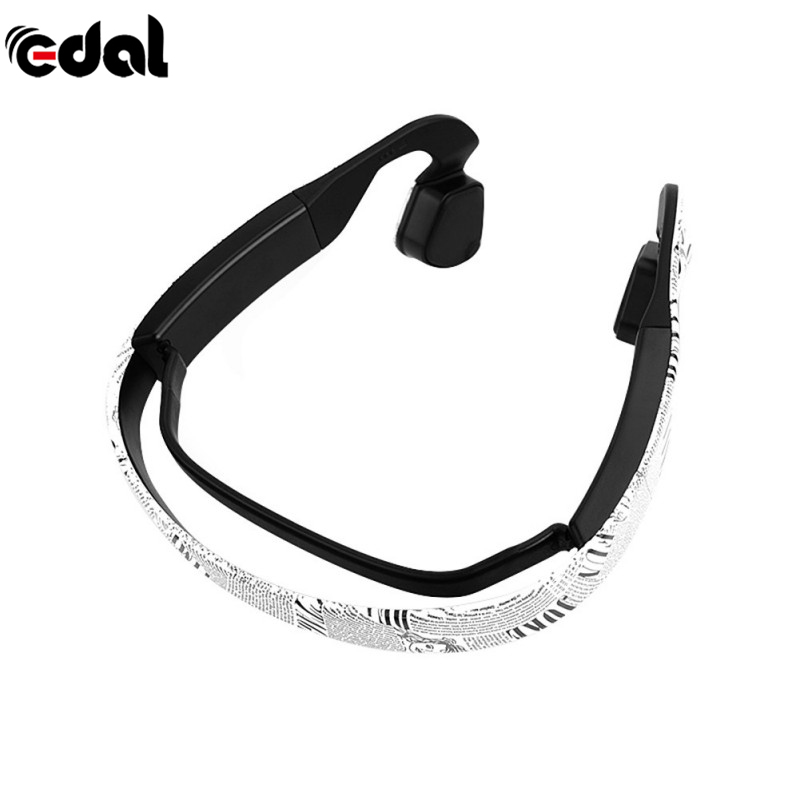 EDAL Sport Running Driving Headphone For Phone Wireless Bluetooth Stereo Printed Bone Conduction Headset Earphone With Mic