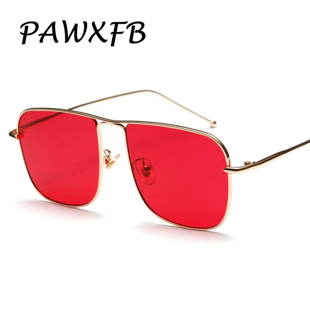 55474417b3 PAWXFB 2018 New Fashion Dark Red Sunglasses Women Men Luxury Mirror Sun  Glasses Brand Designer Eyeglasses Vintage Oculos de sol