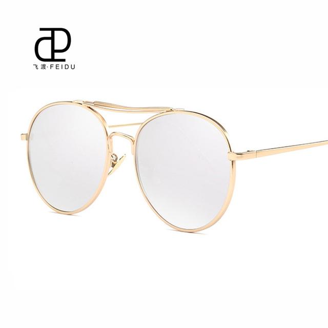 FEIDU 2016 Famosa Marca Óculos de Sol das Mulheres Óculos de Sol de Alta Qualidade Designer de Moda de Luxo óculos de Sol para Mulheres UV400 óculos de sol oculos