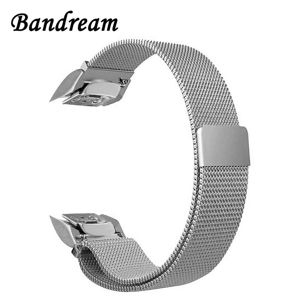 цена на Milanese Loop Watchband + New Adapters for Samsung Gear Fit 2 Fit2 SM-R360 Watch Band Stainless Steel Strap Wrist Belt Bracelet