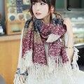 2017 Новое прибытие женщин кашемировый шарф 6 стиль полосатые соответствия платки мода зима пашмины ретро народный обычай шарф для женщин