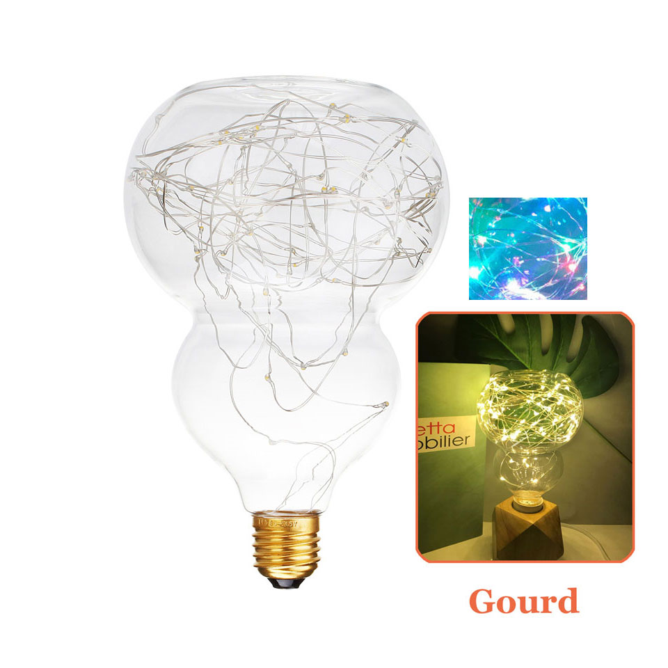 Led lamp E27 led bulb Christmas String Lights Filament Bulb Groud Holiday Light decor for home Ligthing AC 110v 220v smart bulb e27 7w led bulb energy saving lamp color changeable smart bulb led lighting for iphone android home bedroom lighitng