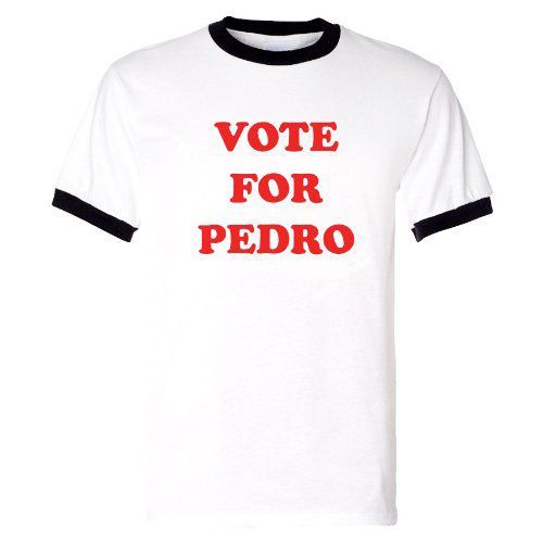 VOTE FOR PEDRO Funny NEW ringer Men s White T Shirt Napoleon Dynamite Cool  Summer Short Sleeve. US  15.57 3b603df8f782