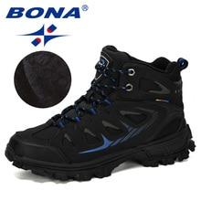 Snow-Boots Plush-Shoes BONA Men Work Outdoor Designers Cow-Split Male New Warm Casual