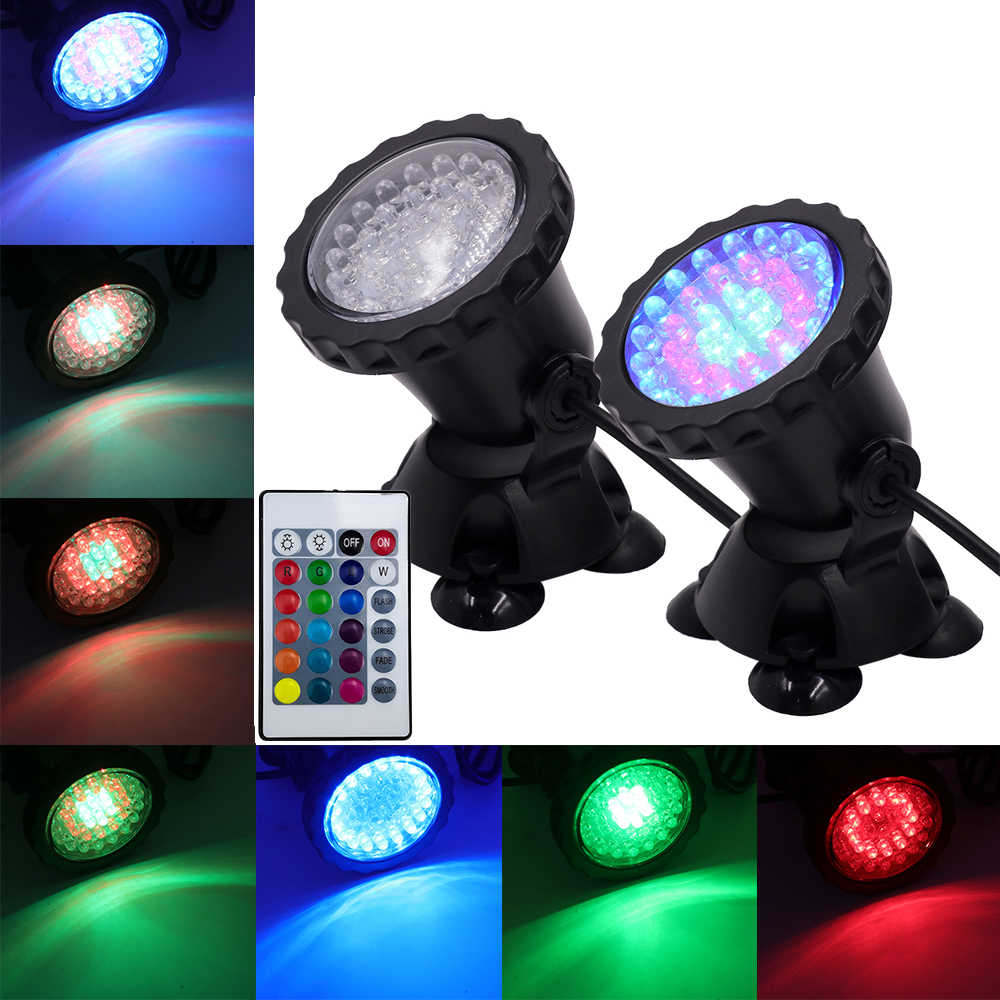 1 set 1/2/3/4 light Underwater Spotlight IP68 Waterproof RGB 36 LED Water Light For Swimming Pool Fountains Pond Water Aquarium