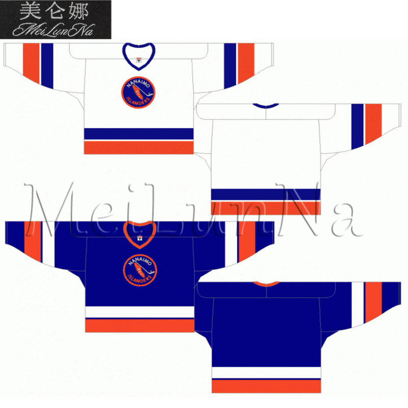 MeiLunNa Customize WHL Nanaimo Islanders Jerseys Home Road White Blue Sewn  On Any Name NO. Size 8f63201854