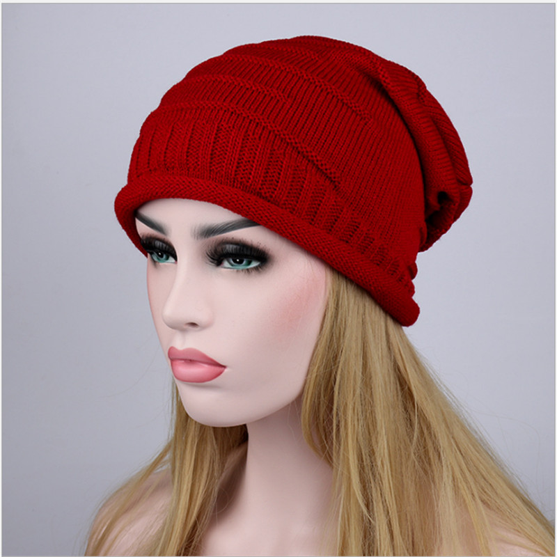 New Winter Hats For Women Beanies Caps Knitted Outdoor Warm Hat Casual Slouchy Solid Females Skullies gorras mujer*touca inverno fibonacci winter hat knitted wool beanies skullies casual outdoor ski caps high quality thick solid warm hats for women