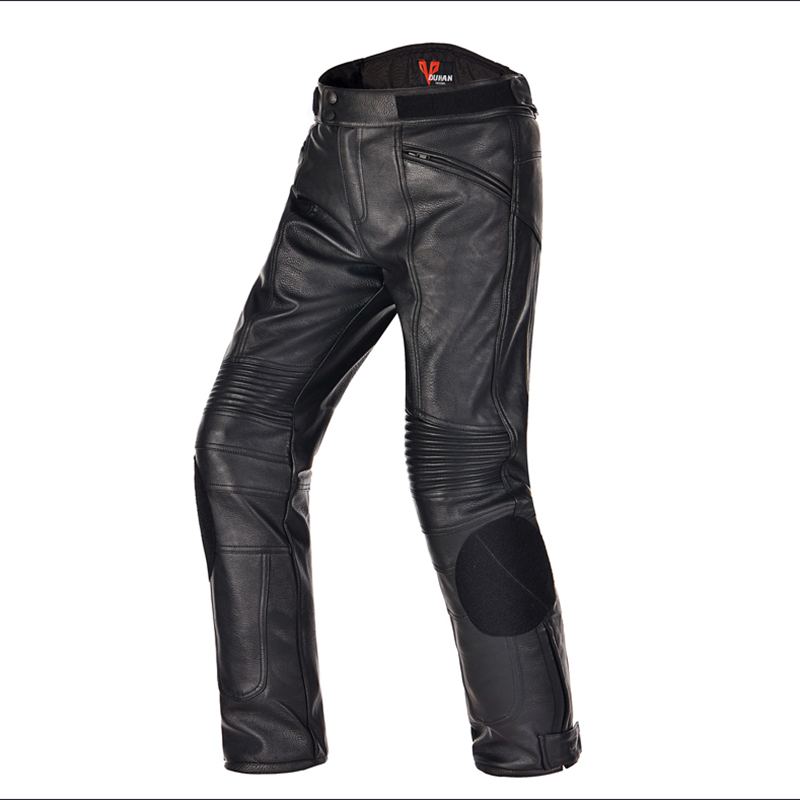NEW Winter DUHAN 05 Motorcycle PU Leather Pants Motocross Dirt bike Trousers Racing Riding windproof Motor