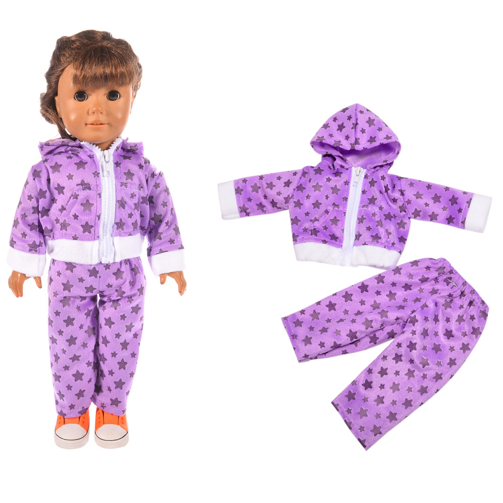 Fleta Fashion Sports & Leisure suit fit 18 inch american gril doll or born baby doll toy accessories baby the best gift n825
