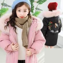 3f7cbf07118 Teenage Girls Parkas Winter Jackets 2018 New Fashion Baby Girl Winter  Clothes Snowsuit Toddler Girls Coat Kurtka Zimowa 10 12 14
