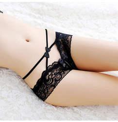 2018 новый прозрачный сексуальное нижнее белье Для женщин кружева трусы соблазнительной открытой промежностью трусики женские стринги T-Back