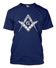 2019 New Summer Casual T -shirt Freemason  Square & Compass Symbol Men