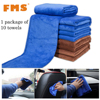 10 Pieces Ultra Microfiber Car Cleaning Cloths Set Waxing And Polishing Drying Towels Super Absorbent Auto