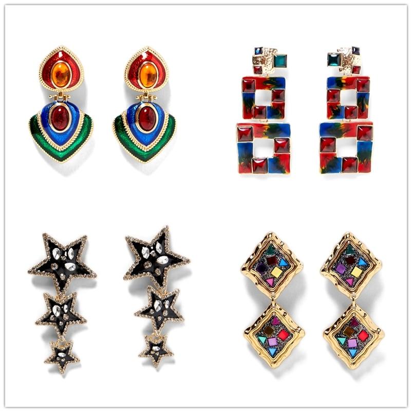 JURAN 2018 Statement Earrings Wholesale Women Brand Crystal Statement  Earrings For Women Party ZA Earrings