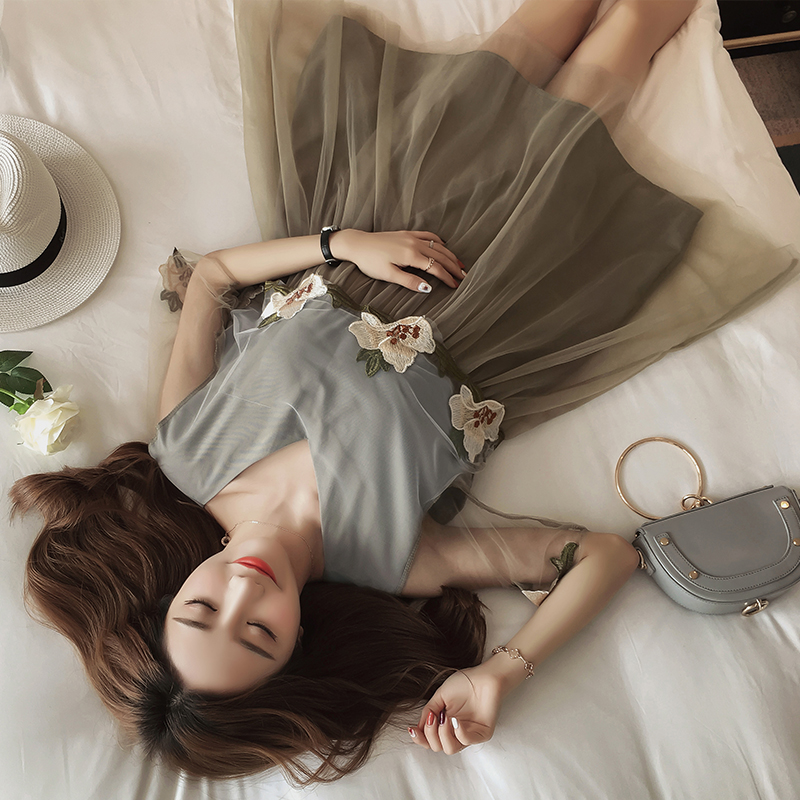 Maternity Dress 2018 Summer Fashion Cute Lace Pregnancy Dresses Lace Flower Embroidery Photography Clothes for Pregnant Women