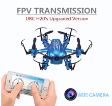 Mini Wifi FPV Drones 6 Axis Rc Dron Jjrc H20W Quadcopters with 2MP HD Camera Flying Helicopter Remote Control Toys Nano Copters