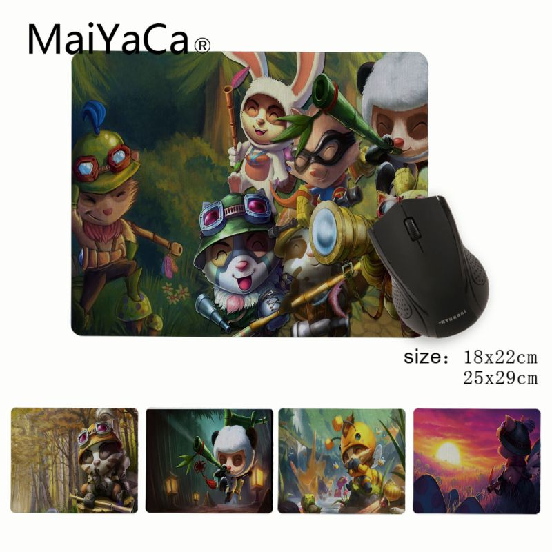 MaiYaCa League Of Legends Teemo Customized laptop Gaming small mouse pad Rubber PC Computer Mousepad For PC Laptop Notebook