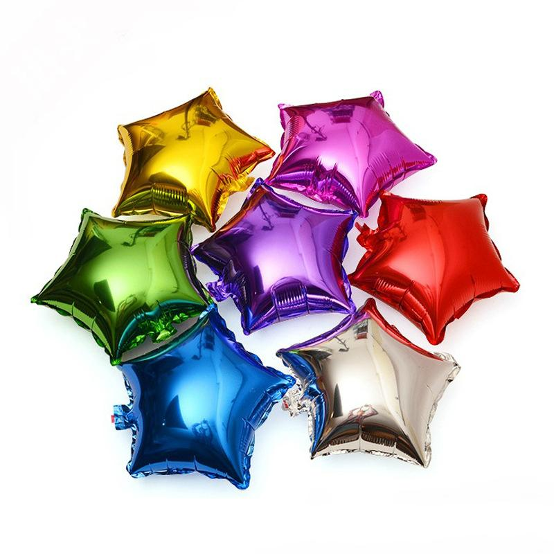 Wedding Decoration 10-inch Star Foil Helium Party Balloons Birthday Metallic Wedding Anniversary Party Supplies Free Shipping
