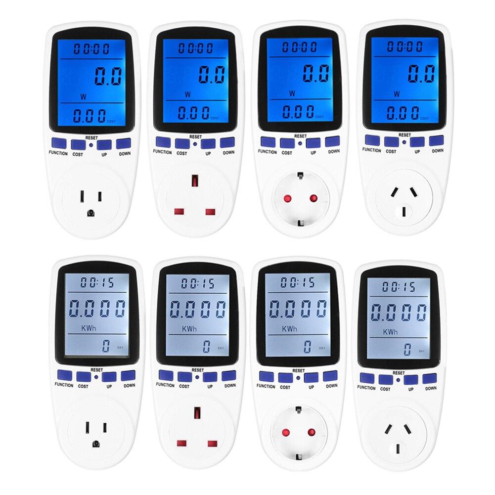 AU Plug Energy Meter Watt Voltage Electricity Monitor Blue Backlight  цены