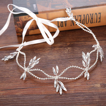 FORSEVEN Hair Jewelry Headband tiara Siver Color Crystal Rhinestone Bride Hair Accessories Wedding Headpiece Fashion Jewelry