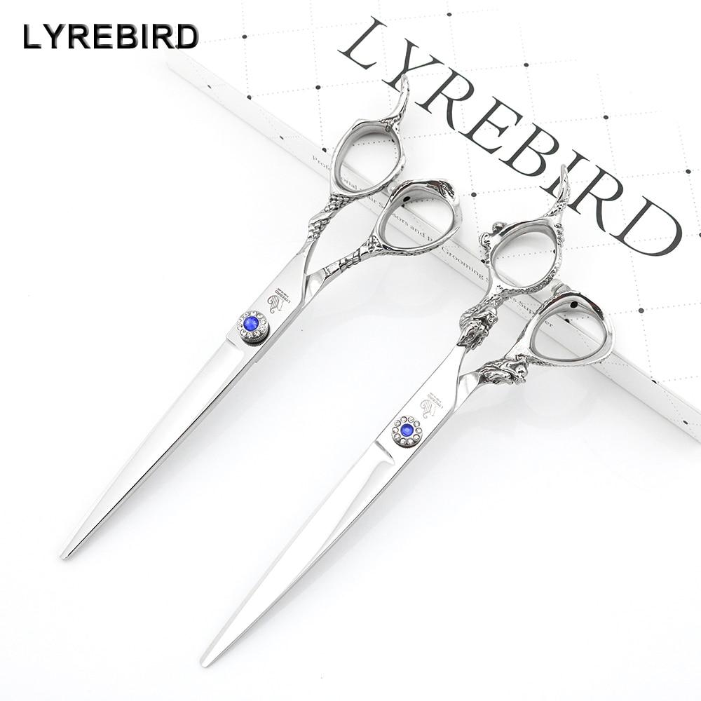 Professional hair shears 7 Inch Silvery hair cutting scissor Dragon Tail or Dragon Head Handle Lyrebird HIGH CLASS NEW