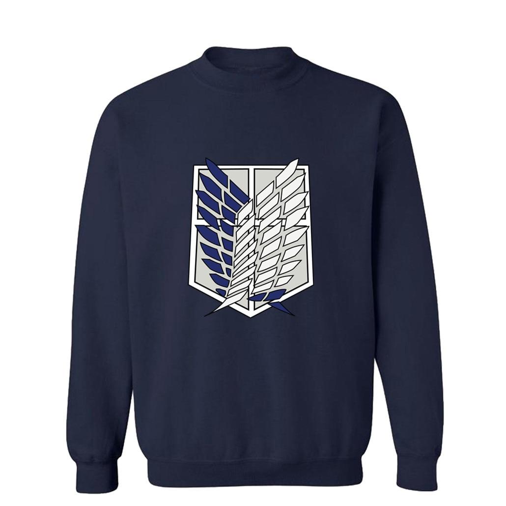 2018 Casual Oversize Loose Attack On Titan Hoodie Sweatshirts Men Hoodies Print Sweatshirt Female Plus Size