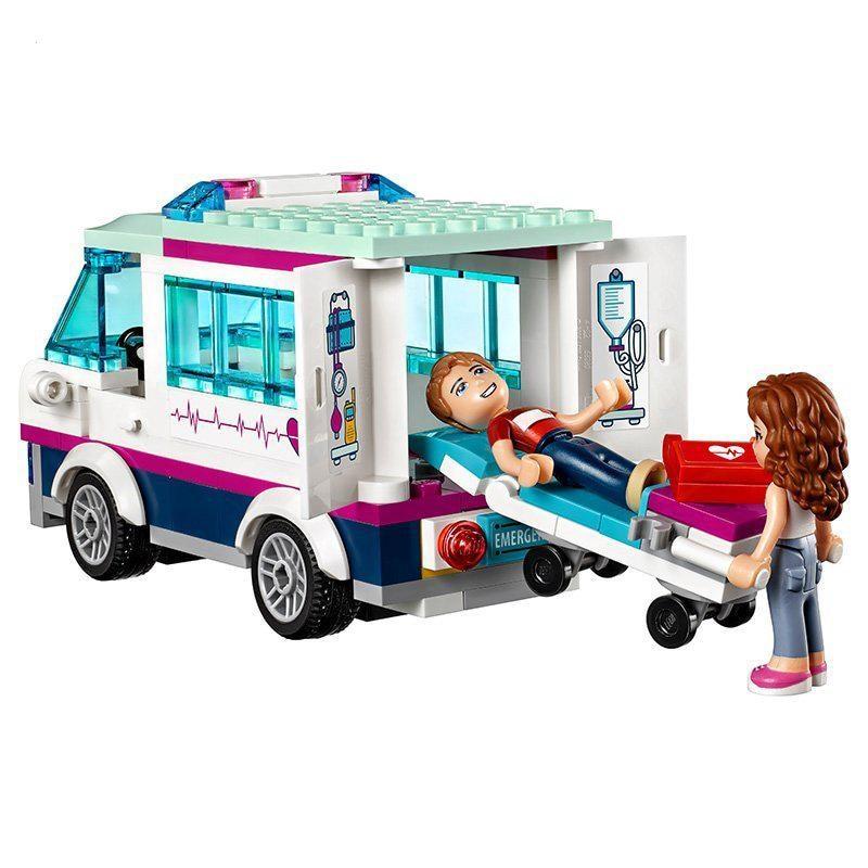 LELE 932 pièces cœur de ville parc amour hôpital fille amis bloc de construction Compatible avec amour amis brique jouet - 3