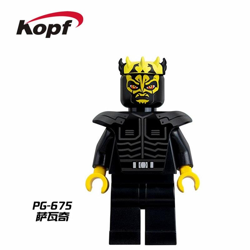 Single Sale Building Blocks Luke Skywalker Qui-Gon Jinn Death Space Robot Mace Windu Figures For Children Model Toys PG675