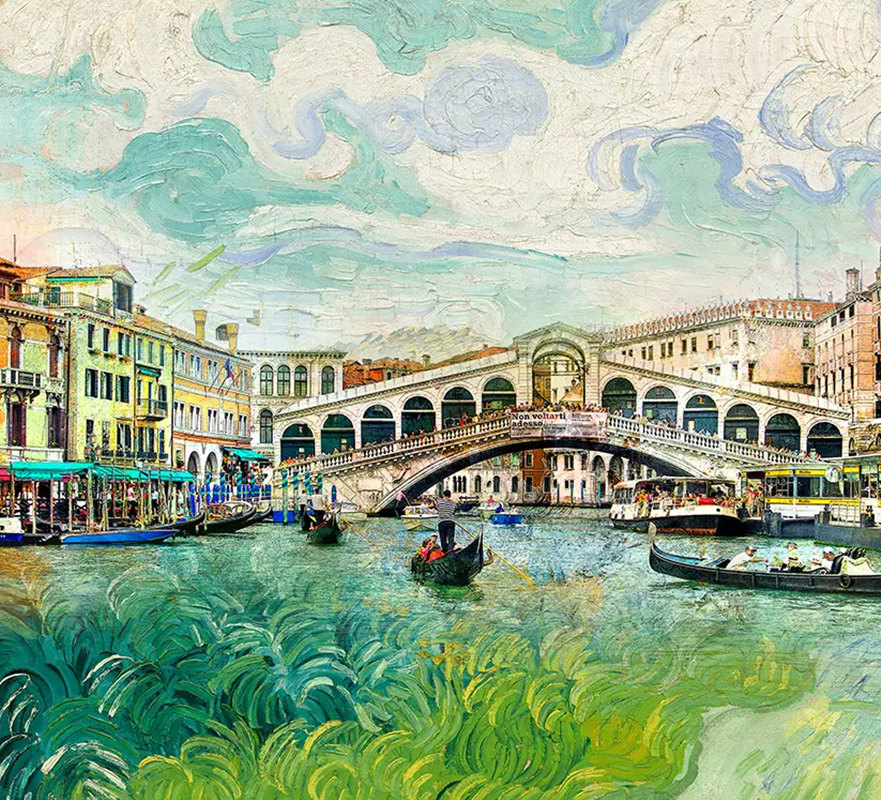 3D Photo Custom European Non-woven Mural Wallpaper For Living Room Venice Watertown Oil Painting Bedroom Kids' Room Home Decor free shipping large mural wallpaper villa living room ceiling european oil painting wallpaper