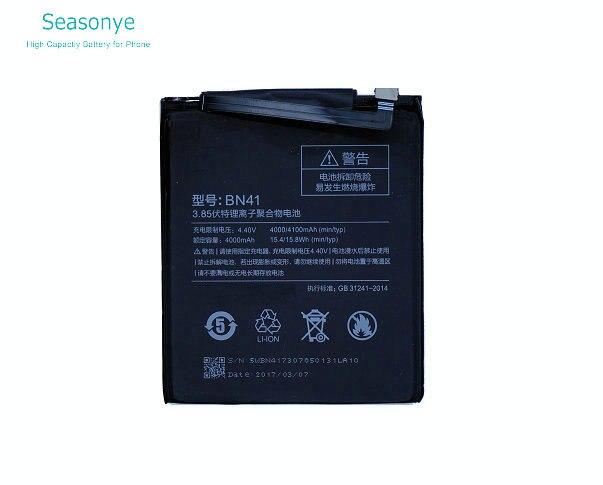 Seasonye 1x4000 mAh/15.4Wh BN41/BN 41 Handy ersatz Batterie Für Xiaomi Redmi Hongmi Hinweis 4 Hinweis4 MTK Helio X20