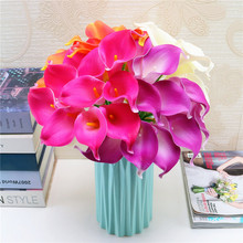 10pcs/lot Lovely Artificial Flowers Wedding Decorative Calla Lily Fake for Party Decoration Accessories