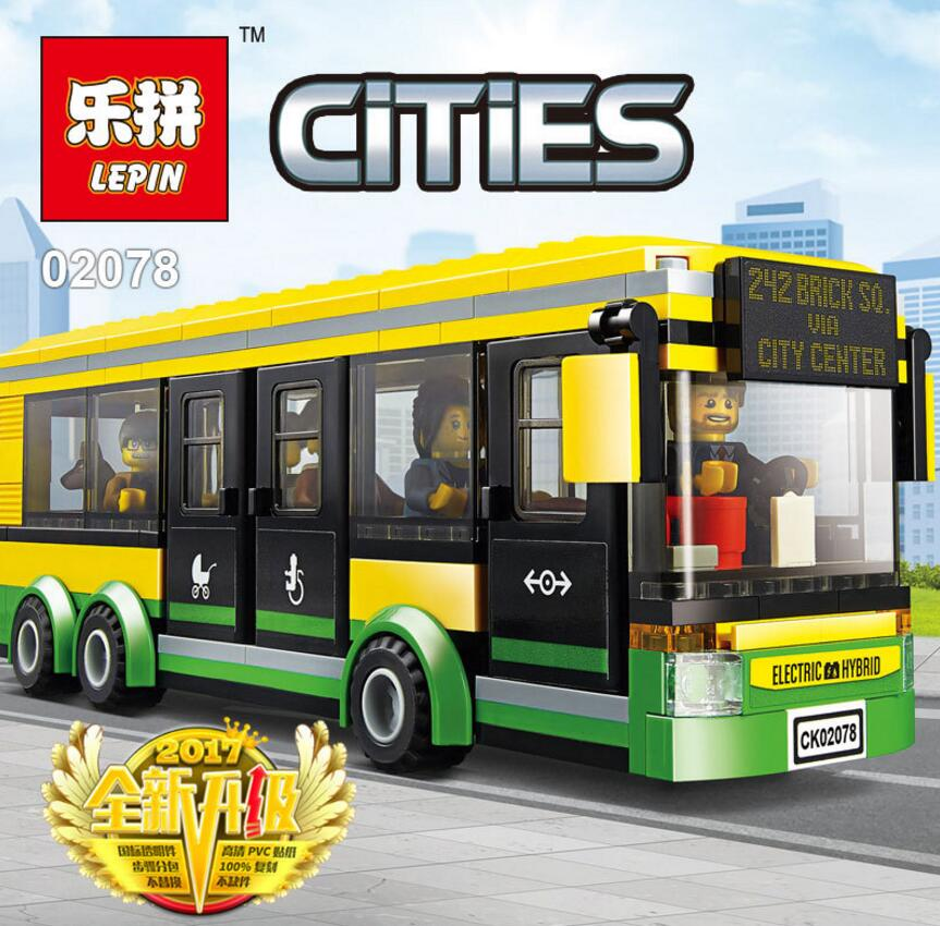 Lepin City Construction Road Bus Bike Building Block Toy City Town ...