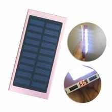 Ultra Mince 16000 mAh 21LED lumières Solaire Power Bank chargeur banque avec LCD Panneau Solaire Externe pour mobile téléphones/extérieur/Xiaomi