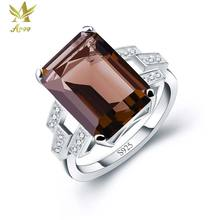ANGG 5.9ct S925 Sterling Silver Ring for Women Wedding & Engagement Jewelry Prong Setting Square Cocktail Rings