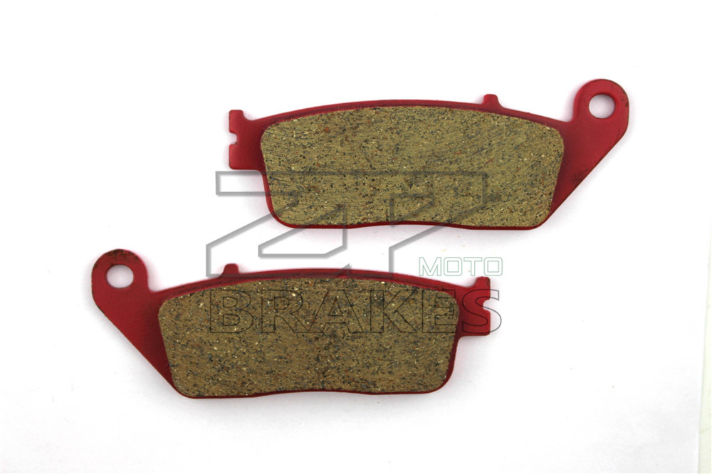 Motorcycle Parts Brake Pads Fit HONDA <font><b>750</b></font> <font><b>VFR</b></font> FJ/FK/FL/FM/FP..1988-1997 CBF <font><b>750</b></font> 2007-2008 Front Red Carbon Ceramic Free shipping image