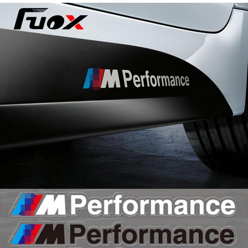 2PCS/LOT Newest Car Decoration ///M Performance Stickers Decals for BMW X1 X3 X5 X6 3series 5 Series 7 Series Car-Styling 1pc car sticker for bmw motorcycle car styling stall paste m logo interior gear head stickers fit for bmw m3 m5 m6 x1 x3 x5 x6