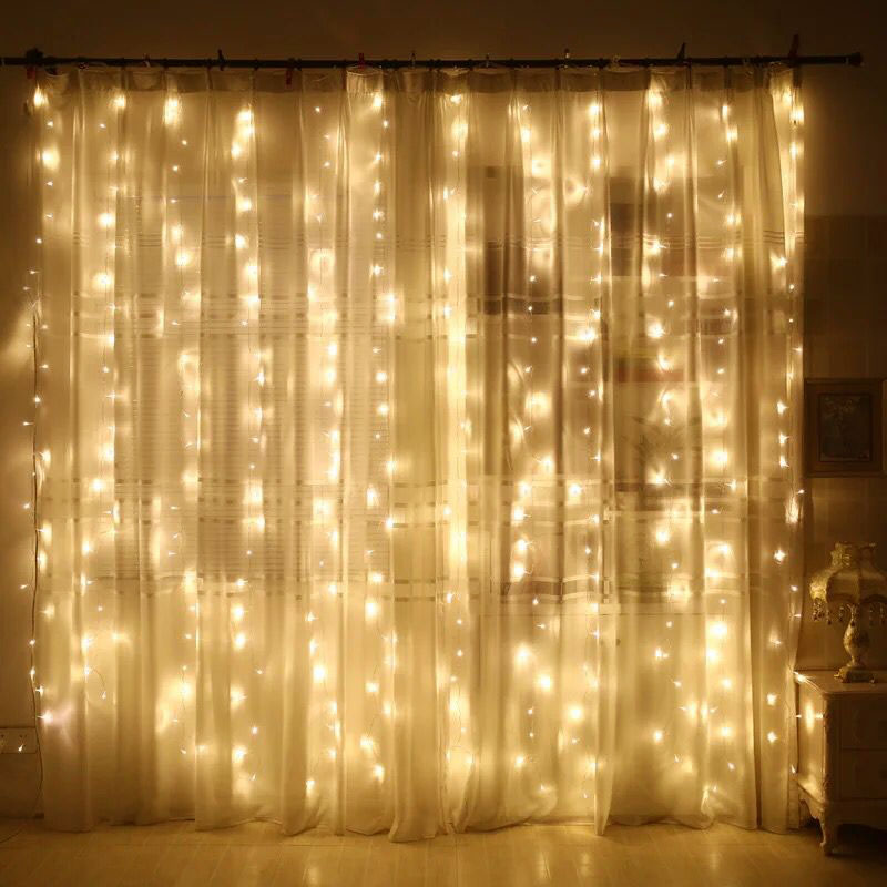 svelta 3x2m garland christmas led curtain fairy lights. Black Bedroom Furniture Sets. Home Design Ideas